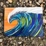 Small Wave Mosaic —The C Glass Studio