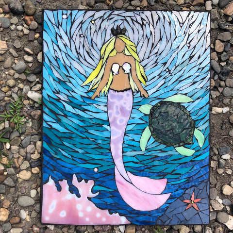"""Sea Princess"" Glass Mosaic —The C Glass Studio"