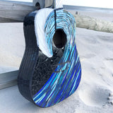 Wave Mosaic Guitar —The C Glass Studio