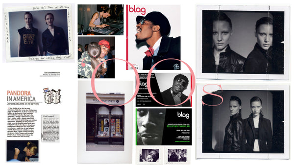 BLAG 00's Sally A & Sarah J Edwards British Twins Pharrell, André 3000, GZA, The Guardian, Page 6, Twins, Models, Burberry, Polaroid by Matt Holyoak, Mos Def BLAG Magazine