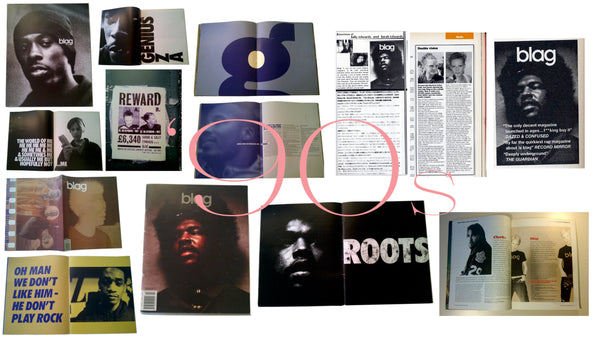 BLAG Magazine Iconic Images GZA Wu-Tang, Queslove The Roots, The Pharcyde, Beck, Sally & Sarah Dazed, Rankin, Prince Paul, 90s, Warren G