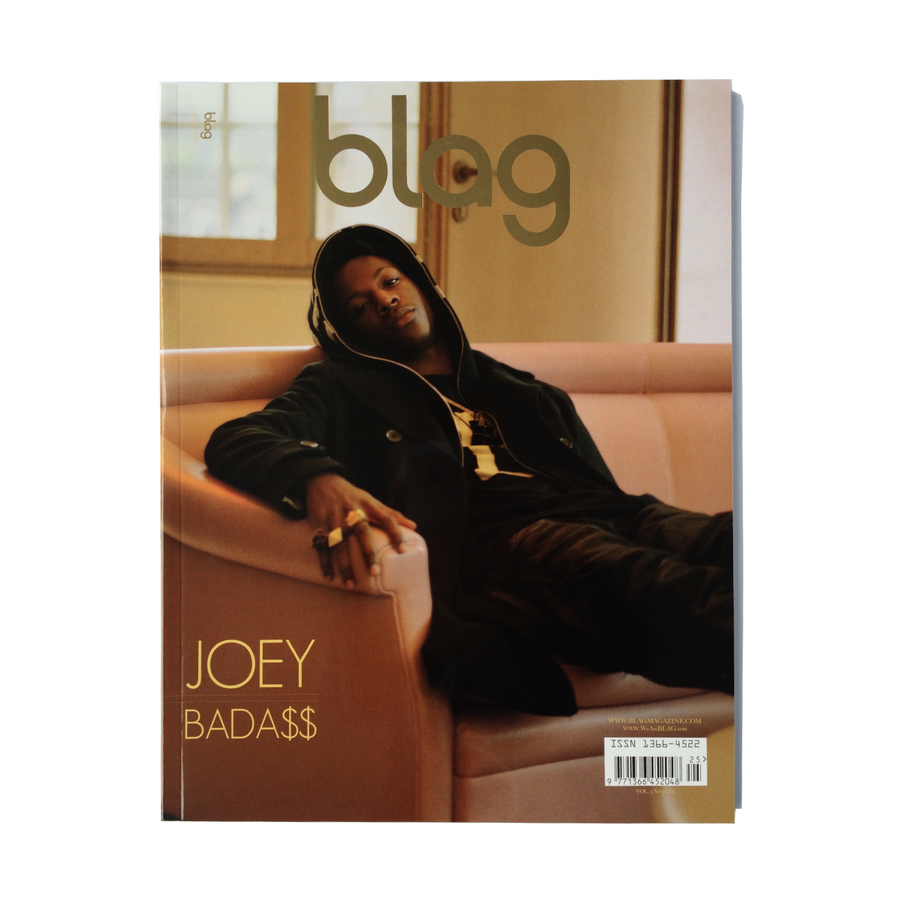 Joey Bada$$ BLAG Magazine Cover Photographer: Sarah J. Edwards, Art Direction: Sally A. Edwards. All Rights Reserved by BLAG UK Ltd.