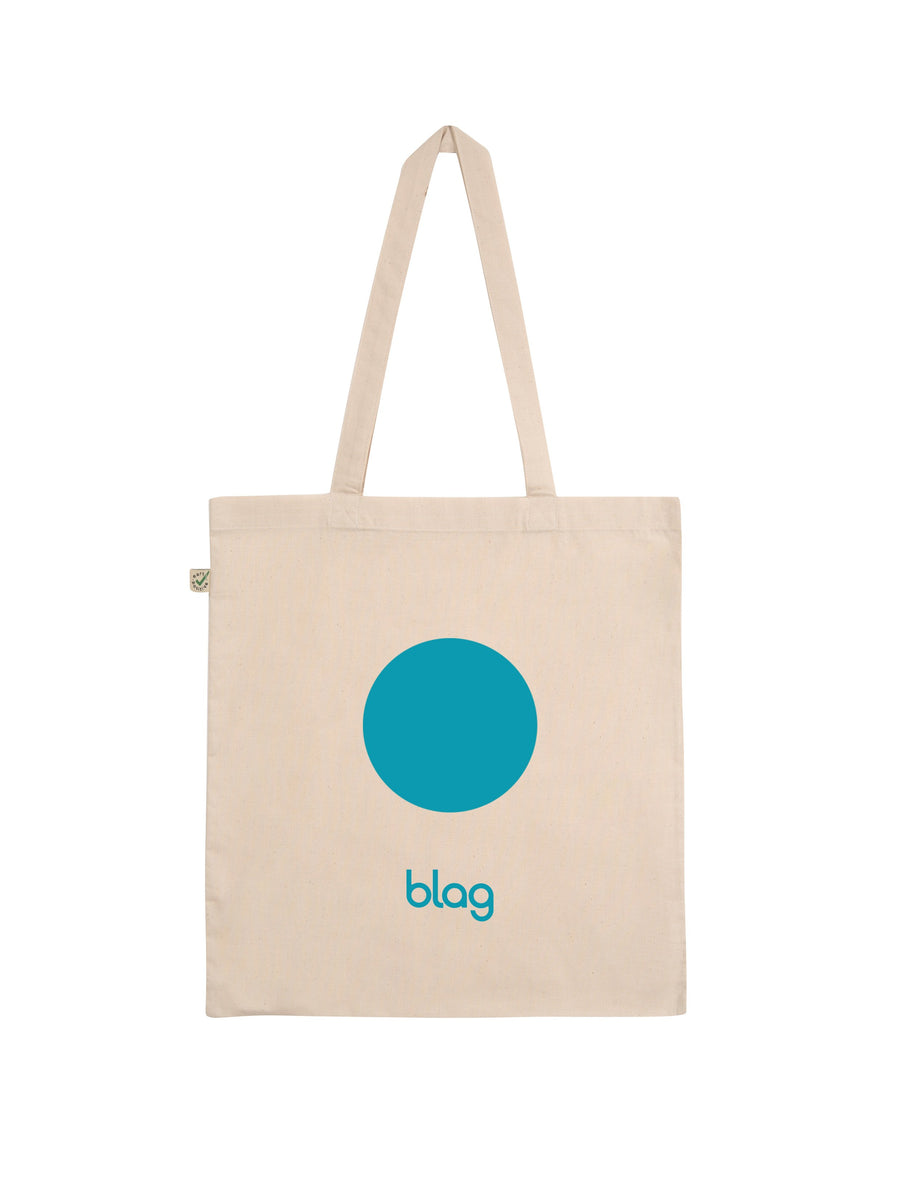 BLAG Organic Cotton Book Bag with Swimming Pool Print. Limited Edition: only 100 pieces will be made per style. Designed by Sally A. Edwards