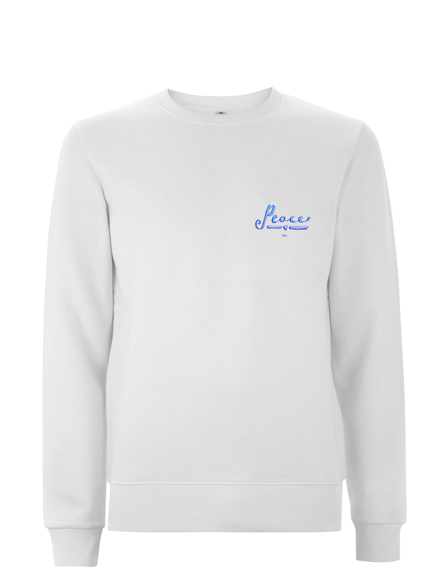 BLAG Premium Sweatshirt Printed with 'Peace' hand drawn by Sarah J. Edwards