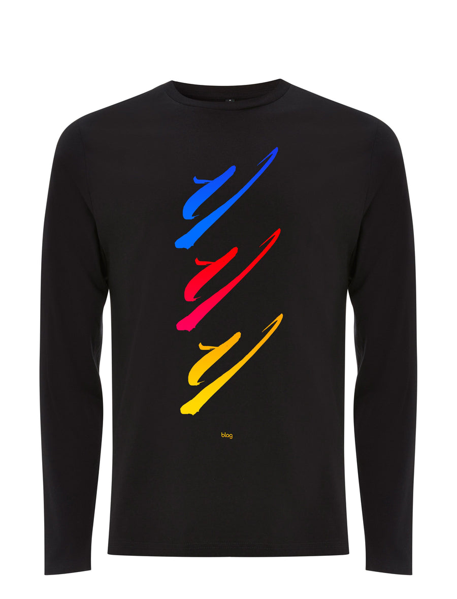 BLAG U Long Sleeve T-Shirt printed with hand painted art by Sally A. Edwards