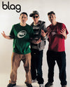 Beastie Boys: BLAG Magazine Cover Photographer: Sarah J. Edwards, Art Direction: Sally A. Edwards. All Rights Reserved by BLAG UK Ltd.