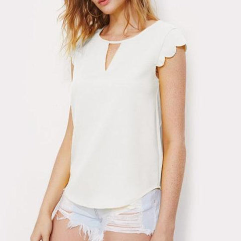 Andie Sweet and Scalloped Top