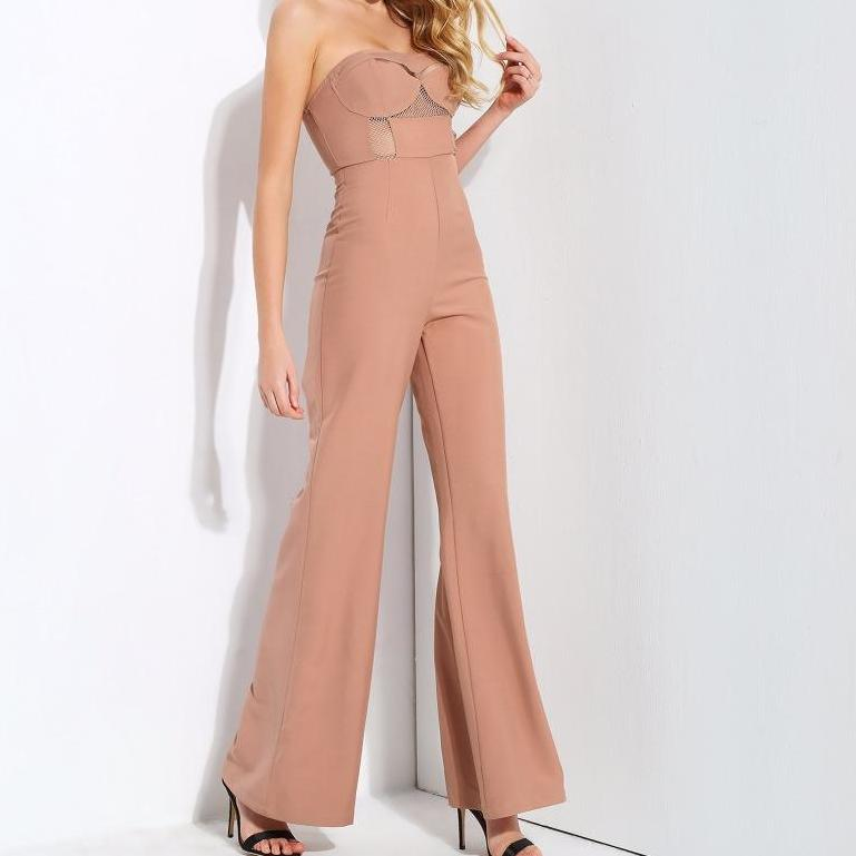 Amber The Naked Truth Jumpsuit- Nude