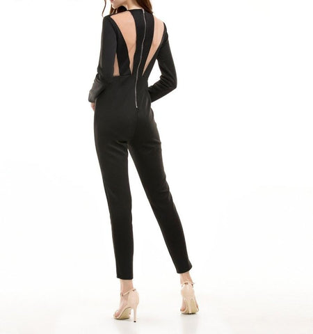 Amber The Naked Truth Jumpsuit- Black