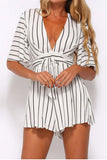 Wolfie Butterfly Sleeved Playsuit Playsuit - Auemay.com