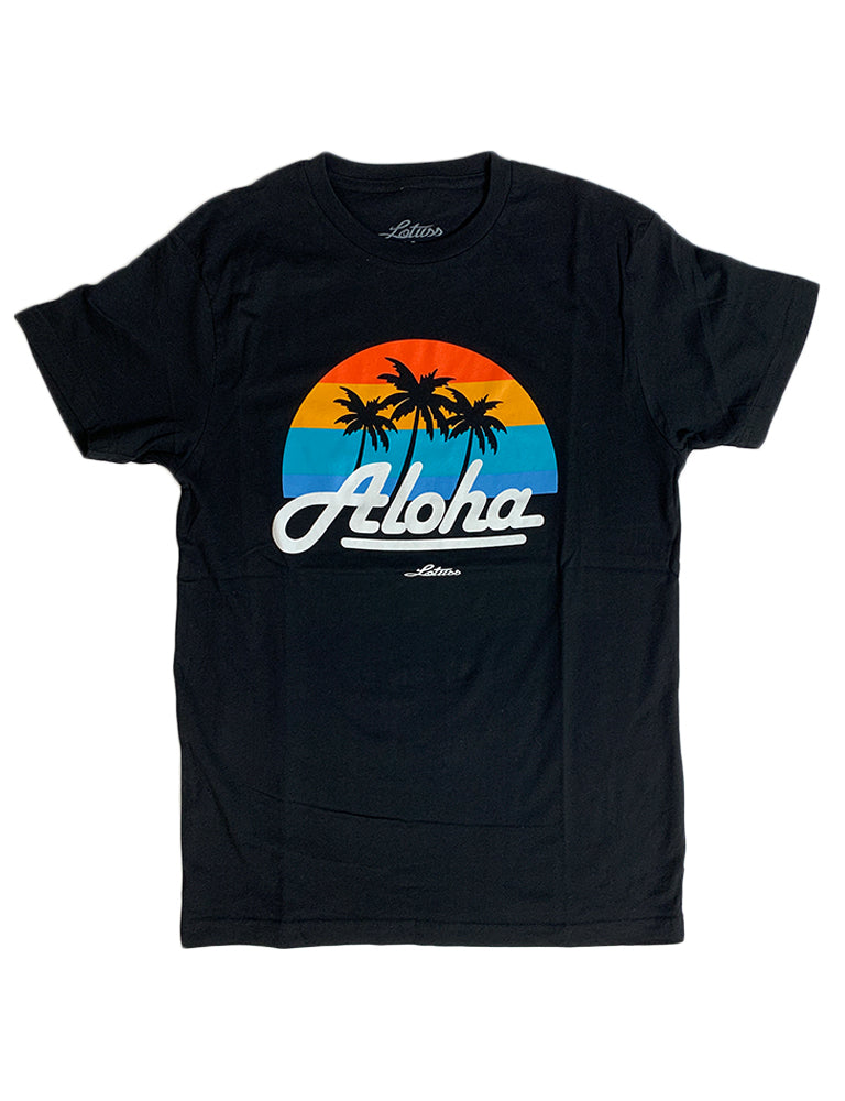 Aloha Island Sunset Tee (Black)