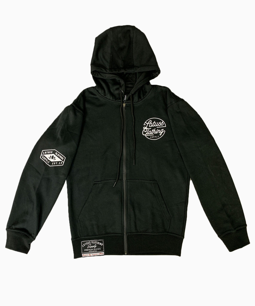 Lotuss Premium Zip Up Hoodie (Black)