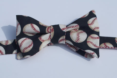 Baseball Bow Tie - blue