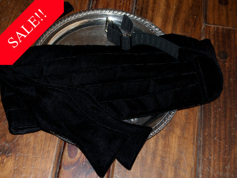 Black Velvet Bow Tie & Cummerbund Set