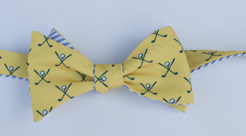 Golf Bow Tie - yellow