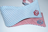 Seersucker Reversible Bow Tie - Choice of Colors!