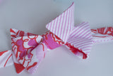 Designer Orange and Hot Pink Bow Tie