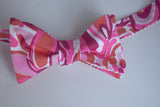 Designer Pink, Orange & Red Bow Tie