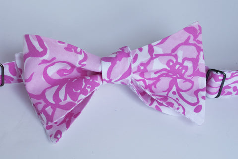 Designer Pink on Pink Bow Tie