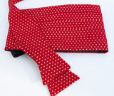 Red with Gold Dot Bow Tie