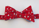 Martini Glasses Bow Tie - red with confetti