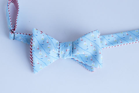 Sailboat Sports Bow Tie - light blue