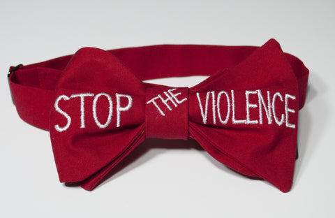 Stop the Violence Bow Tie