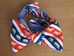 Bears and Bulls Stock Market Bow Tie