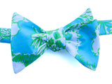 Designer Blue and Green Bow Tie