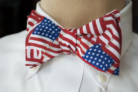 Americana Flag Bow Tie - Youth