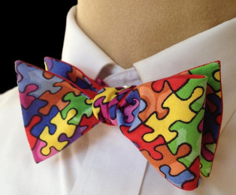 Puzzle Pieces Bow Tie - Mens