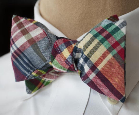 Patch Madras Classic Plaid Bow Tie