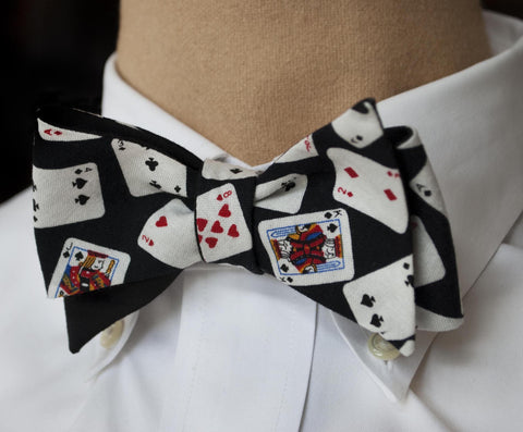Card Player Bow Tie