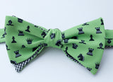 Chess Bow Tie - red
