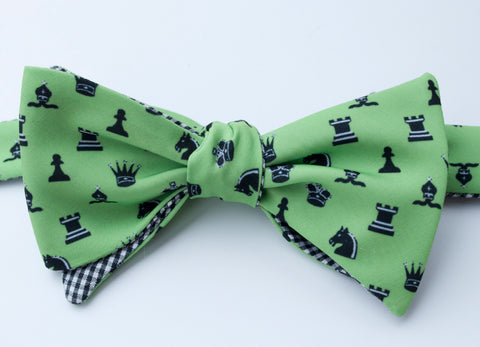 Chess Bow Tie - green