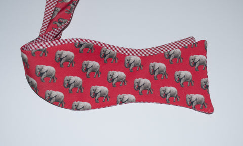 Elephant Bow Tie - red