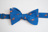 Flamingo Bow Tie - Royal Blue