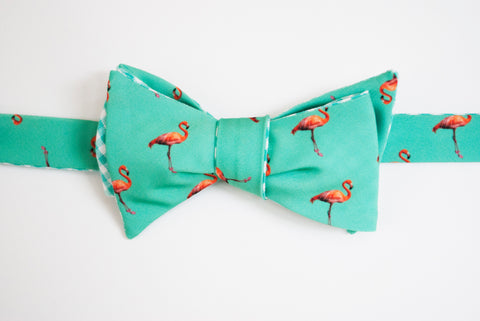 Flamingo Bow Tie - Teal
