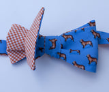 Golden Retriever Bow Tie - blue