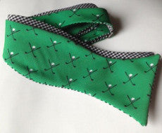 Golf Bow Tie - green & black