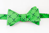 Golf Bow Tie - green & navy