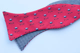 Ice Hockey Bow Tie - red