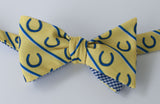 Horseshoes Bow Tie - yellow