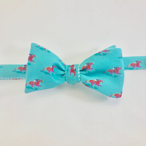 Race Horse Bow Tie - Turquoise