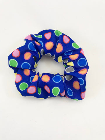 Blue & Colorful Dots - Scrunchie