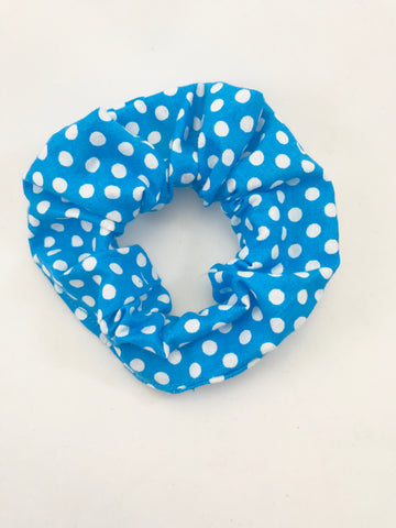 Blue & White Dots - Scrunchie