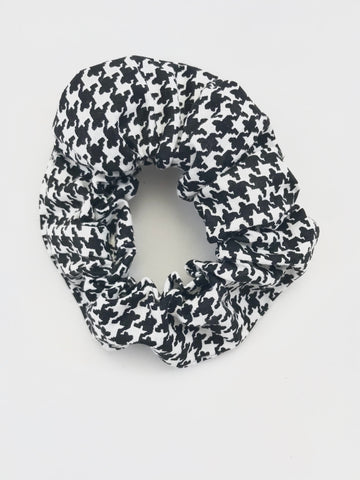 Black Hounds Tooth - Scrunchie