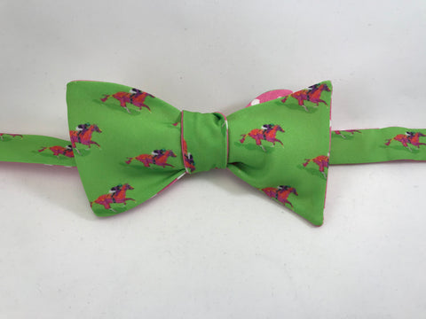 Race Horse Bow Tie - Green