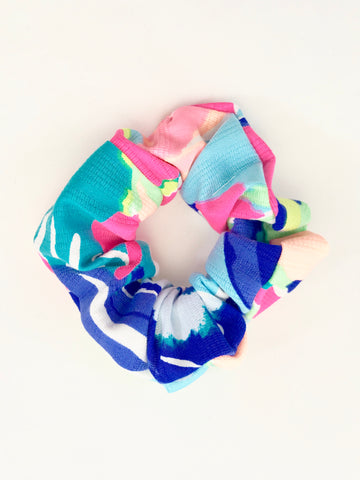 Designer Navy Abstract - Scrunchie