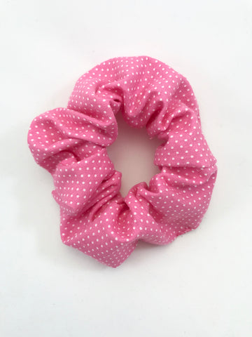 Pink & White Mini Dots - Scrunchie